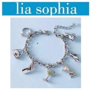 Lia Sophia Party Girl Retired Charm Bracelet